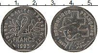 Изображение Монеты Франция 2 франка 1993 Медно-никель XF+