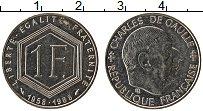 Изображение Монеты Франция 1 франк 1988 Медно-никель UNC- 30 лет Пятой Республ
