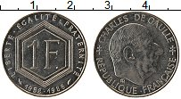 Изображение Монеты Франция 1 франк 1988 Медно-никель UNC-