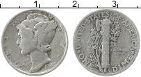 Изображение Монеты США 1 дайм 1942 Серебро VF