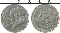 Изображение Монеты Мексика 1 песо 1971 Медно-никель XF Хосе Морелос