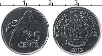 Изображение Монеты Сейшелы 25 центов 2012 Медно-никель UNC-