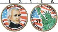Изображение Монеты США 1 доллар 2009 Латунь UNC Цветная эмаль. 11-й
