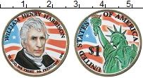 Изображение Монеты США 1 доллар 2009 Латунь UNC Цветной доллар Вилья