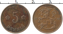 Изображение Монеты Финляндия 5 пенни 1930 Бронза XF