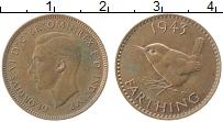 Изображение Монеты Великобритания 1 фартинг 1943 Бронза XF