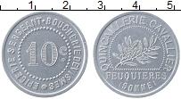 Изображение Монеты Франция 10 сантим 0 Алюминий XF+ `Город Фёкьер. Скобя