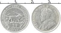 Изображение Монеты Уганда 25 центов 1913 Серебро XF- Георг V