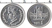 Изображение Мелочь Пакистан 1 рупия 2018 Алюминий UNC