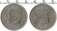 Изображение Монеты Швеция 2 кроны 1968 Медно-никель UNC- Густав VI Адольф