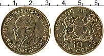 Изображение Монеты Кения 10 центов 1978 Латунь UNC- Мзее Йомо Кеньятта