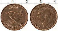 Изображение Монеты Великобритания 1 фартинг 1939 Бронза UNC- Георг VI
