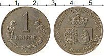 Изображение Монеты Гренландия 1 крона 1964 Медно-никель XF Гербы