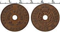 Изображение Монеты Родезия 1 пенни 1942 Медь VF Георг VI