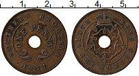 Изображение Монеты Родезия 1 пенни 1951 Медь VF Георг VI
