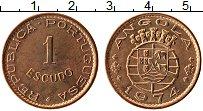 Изображение Монеты Ангола 1 эскудо 1974 Медь UNC- Протекторат Португал