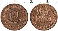 Изображение Монеты Ангола 10 сентаво 1949 Медь UNC- Протекторат Португал