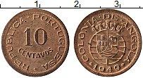 Изображение Монеты Ангола 10 сентаво 1949 Медь UNC-