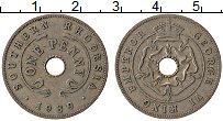Изображение Монеты Родезия 1 пенни 1939 Медно-никель VF Георг VI