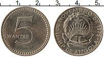 Изображение Монеты Ангола 5 кванза 1975 Медно-никель XF Герб