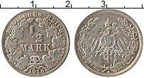 Изображение Монеты Германия 1/2 марки 1918 Серебро XF A