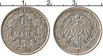 Изображение Монеты Германия 1/2 марки 1916 Серебро XF E