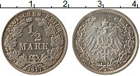 Изображение Монеты Германия 1/2 марки 1917 Серебро XF A