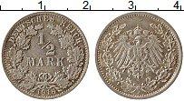 Изображение Монеты Германия 1/2 марки 1916 Серебро XF A