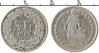 Изображение Монеты Швейцария 1/2 франка 1906 Серебро XF Республика
