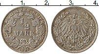 Изображение Монеты Германия 1/2 марки 1915 Серебро XF E