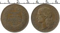 Изображение Монеты Франция Жетон 1878 Бронза XF Выставка достижений