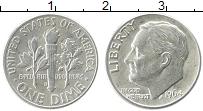 Изображение Монеты США 1 дайм 1964 Серебро XF+