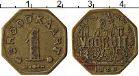 Изображение Монеты Бельгия 1 франк 1880 Латунь XF