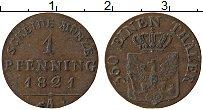Изображение Монеты Пруссия 1 пфенниг 1821 Медь XF А