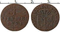 Изображение Монеты Пруссия 1 пфенниг 1821 Медь XF