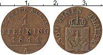 Изображение Монеты Пруссия 1 пфенниг 1844 Медь VF А