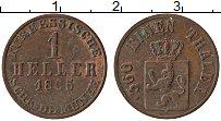 Изображение Монеты Гессен-Кассель 1 геллер 1865 Медь XF