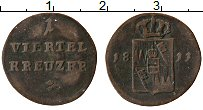 Продать Монеты Вюрцбург 1 крейцер 1811 Медь