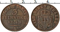 Изображение Монеты Пруссия 3 пфеннига 1851 Медь XF А