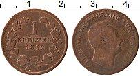 Изображение Монеты Баден 1 крейцер 1852 Медь XF