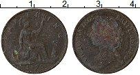 Изображение Монеты Великобритания 1 фартинг 1875 Бронза VF Виктория