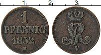 Изображение Монеты Ганновер 1 пфенниг 1852 Медь XF В
