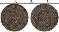 Изображение Монеты Саксен-Веймар-Эйзенах 1 пфенниг 1840 Медь VF А