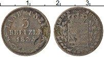 Продать Монеты Саксе-Мейнинген 3 крейцера 1836 Серебро