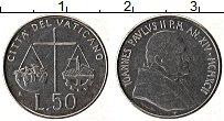 Изображение Монеты Ватикан 50 лир 1992 Медно-никель UNC Иоанн Павел II