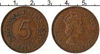 Изображение Монеты Маврикий 5 центов 1959 Бронза XF Елизавета II.