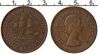 Изображение Монеты ЮАР 1 пенни 1953 Бронза XF Елизавета II.