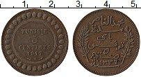 Изображение Монеты Тунис 5 сантим 1917 Бронза XF
