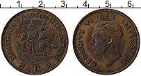 Изображение Монеты ЮАР 1 пенни 1940 Бронза XF Георг VI