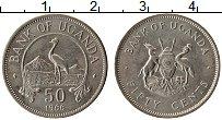 Изображение Монеты Уганда 50 центов 1966 Медно-никель XF